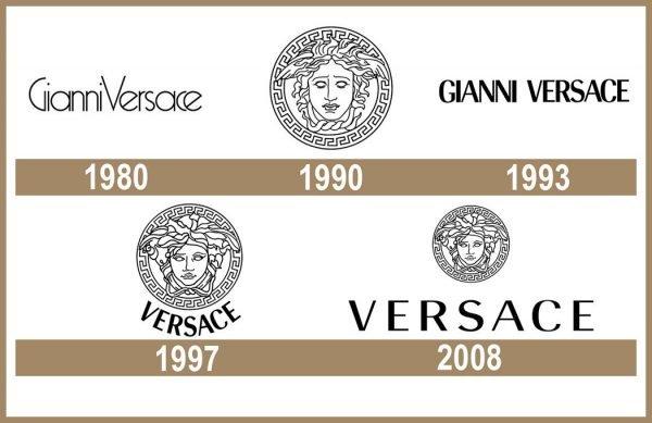 Versace logo História