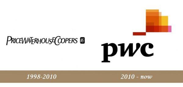 PwC Logo history