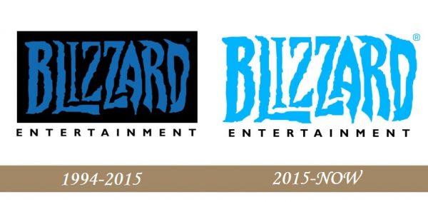 Blizzard Logo history