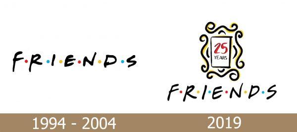 Friends Logo history